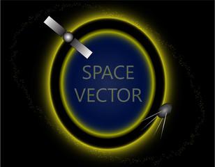 vector illustration space satellite