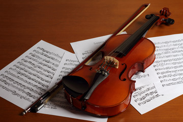 The Violin and Partiture