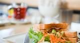 Low calorie vegetable sandwich poster