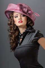 Hat and dress.