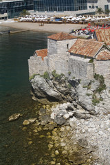 Fragment of the fortifications in Budva.