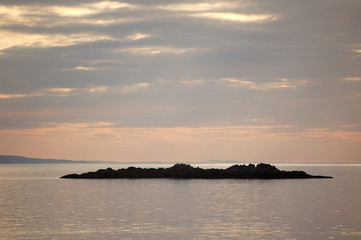 Small island sunset