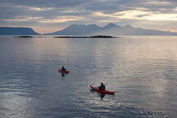 Canoes at Arisaig