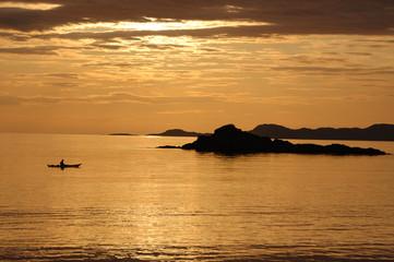 Canoe sunset at Arisaig