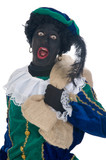 Zwarte Piet with bag