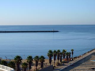 Morning on Beach of Praia da Rocha in Portimao, Algarve