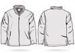 Men's jacket or sweatshirt template with zipper