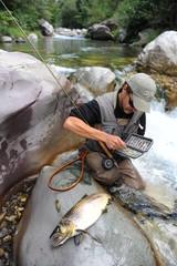 Pêche à la mouche en rivière