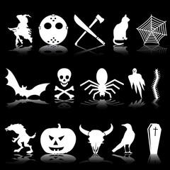Set de iconos de Halloween