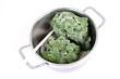 Tiefgefrorener Spinat