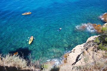 Snorkel y kayak en el Mediterráneo