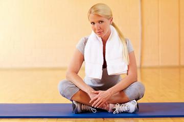 Pause im Fitnesscenter