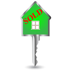 house key sold.Vector