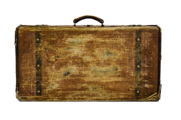 worn retro suitcase