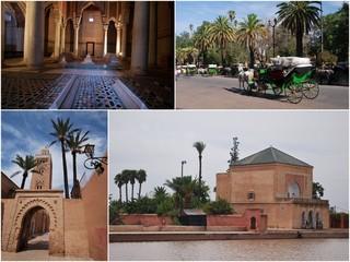 Dans la ville de Marrakech