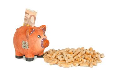 Money & Wood Pellet