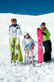 Family winter vacation poster