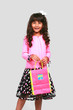 Indian girl with bag