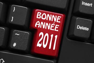 """Touche """"BONNE ANNEE 2011"""" sur Clavier (nouvel an année voeux)"""