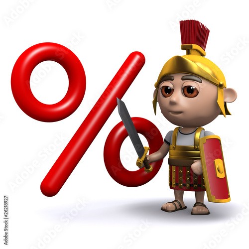 3d Roman soldier cuts a few percent off