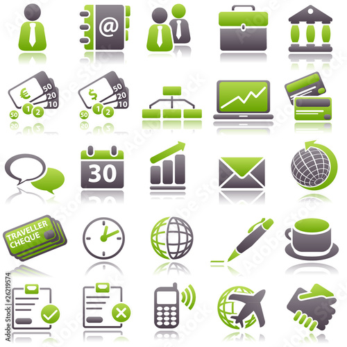 business green icons