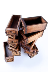 Dozen of  small drawer in a tower