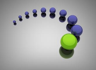Green leadership - leadership concept