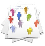 Human resources people business letter page poster