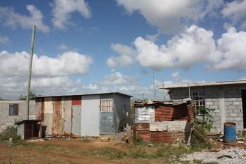 chantier de logements à l'île Maurice