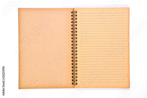 Open Blank page of Recycle Paper Notebook