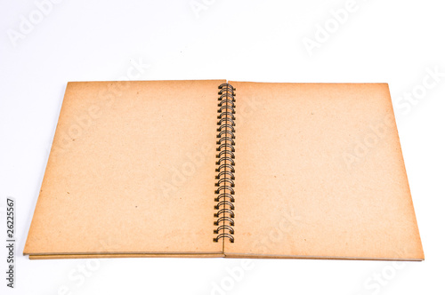 Open Cover Recycle Paper Notebook
