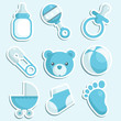 Baby boy icons