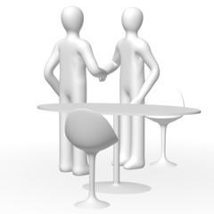 handshake people 3d