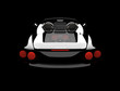 Black back car