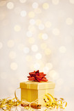 christmas gift before twinkled background poster