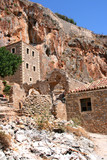 Ruined town Monemvasia in Greece