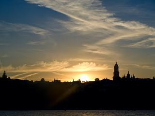 Fantastic sunsen in a city, Kiev Ukraine