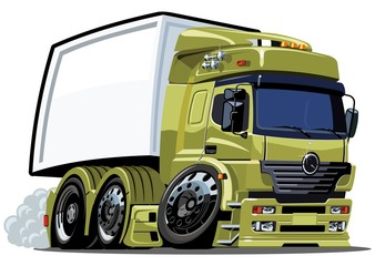Vector cartoon cargo truck