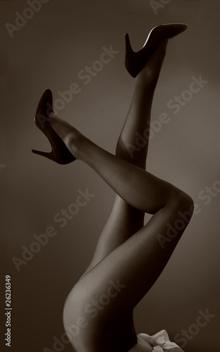 legs and shoes up in the air