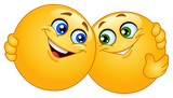 Fototapety Hugging emoticons