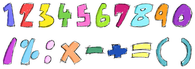 Colorful sketchy numbers