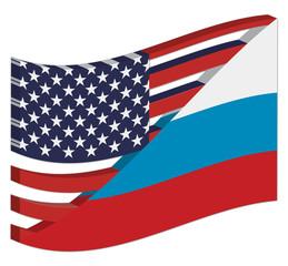 bandiera russia-usa 2