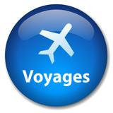 Bouton Web VOYAGES (agence de tourisme vols destinations guide) poster