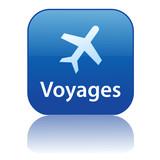 Bouton Web VOYAGES (vols destinations agence de tourisme guide) poster