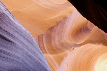 sandstone in Antelope Canyon