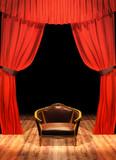 Teatro - palcoscenico con poltrona