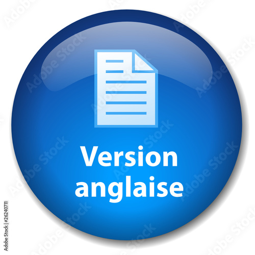 Bouton Web VERSION ANGLAISE (traduction anglais internet site)