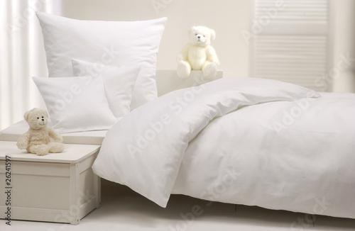 Weißes Kinderbett - 26241597