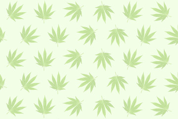 Hemp leaves pastel background