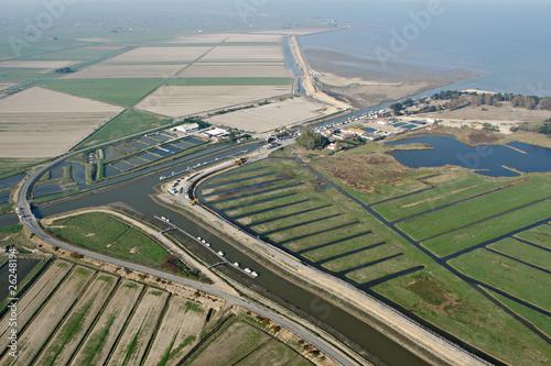 Papiers peints Port Vue aérienne du Port du Collet, Loire Atlantique (44)